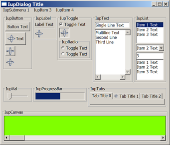 IUP - Cross-platform GUI toolkit for building graphical user